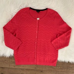 Talbots Button Front Cardigan